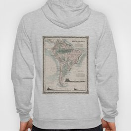 Vintage Map of South America (1858) Hoody
