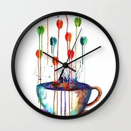Coffee Splash Wall Clock