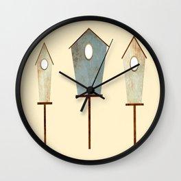 Birdy Birdhouse Wall Clock