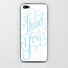Thank you Hand Lettered Calligraphy iPhone Skin
