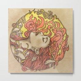 St Brigids Fire Metal Print