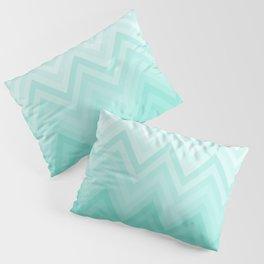 Fading Teal Chevron Pillow Sham