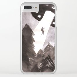 Alien Abduction Clear iPhone Case