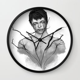 sleeping with demons Wall Clock