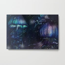 jellyfish night Metal Print