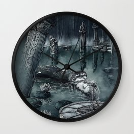 Fantasy Pond Wall Clock