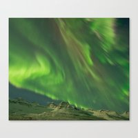 northern lights Canvas Prints featuring Northern Lights by From Flora With Love