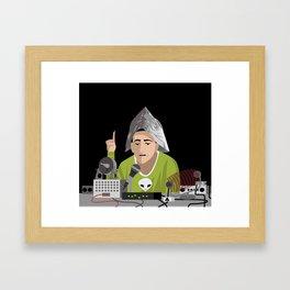 alien conspiracy man Framed Art Print