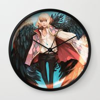 howl Wall Clocks featuring Howl by ShinoX