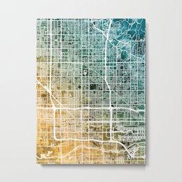 Phoenix Arizona City Map Metal Print