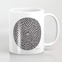 third eye Mugs featuring Third Eye by Toni Hanninen