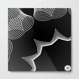 Simple Lines Mandala 4 Metal Print