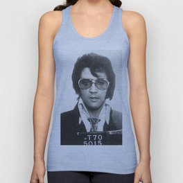 Elvis Presley Mug Shot Vertical Unisex Tank Top
