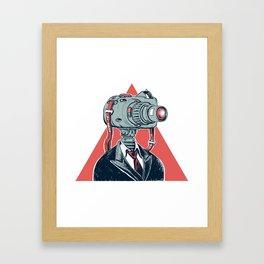 Camera Head Framed Art Print