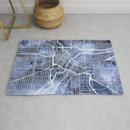 Minneapolis Minnesota City Map Rug