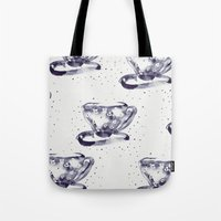 tea Tote Bags featuring Tea by Georgiana Paraschiv