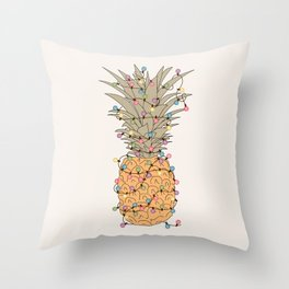 Tropical Lights Throw Pillow