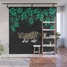 Clouded leopard Wall Mural