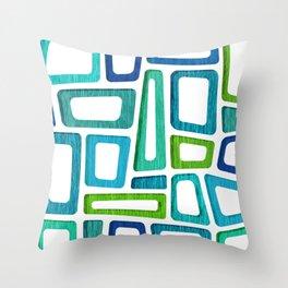 Mid Century Boxy Abstract Throw Pillow