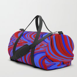 red and blue flowing Duffle Bag
