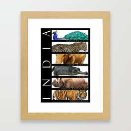 Animals of India Framed Art Print