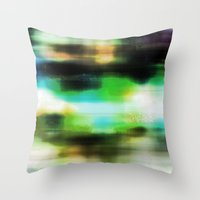techno Throw Pillows featuring Techno Dream by Idle Amusement