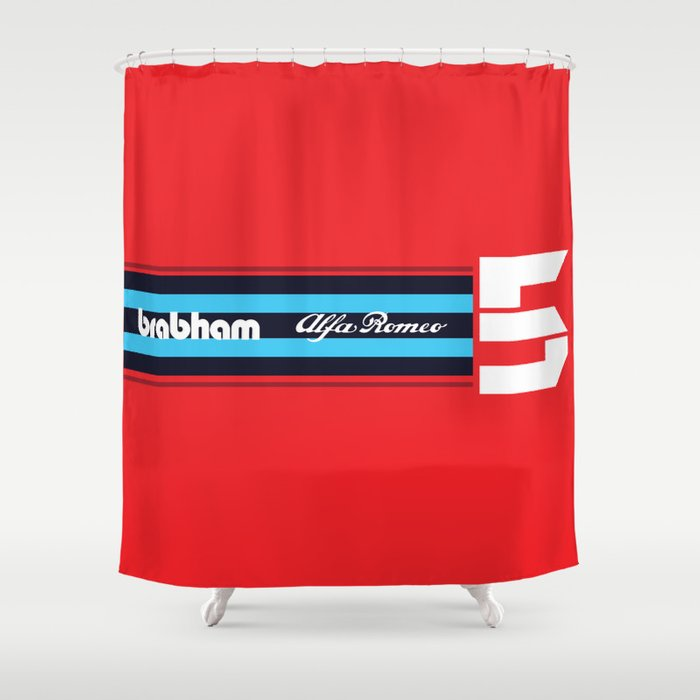 Brabham F1 Alfa Romeo Retro Shower Curtain