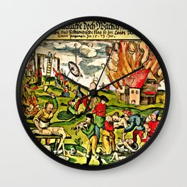 Cannibalism in Russia and Lithuania 1571 Wall Clock