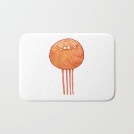 Poofy Orange Yarn Bath Mat