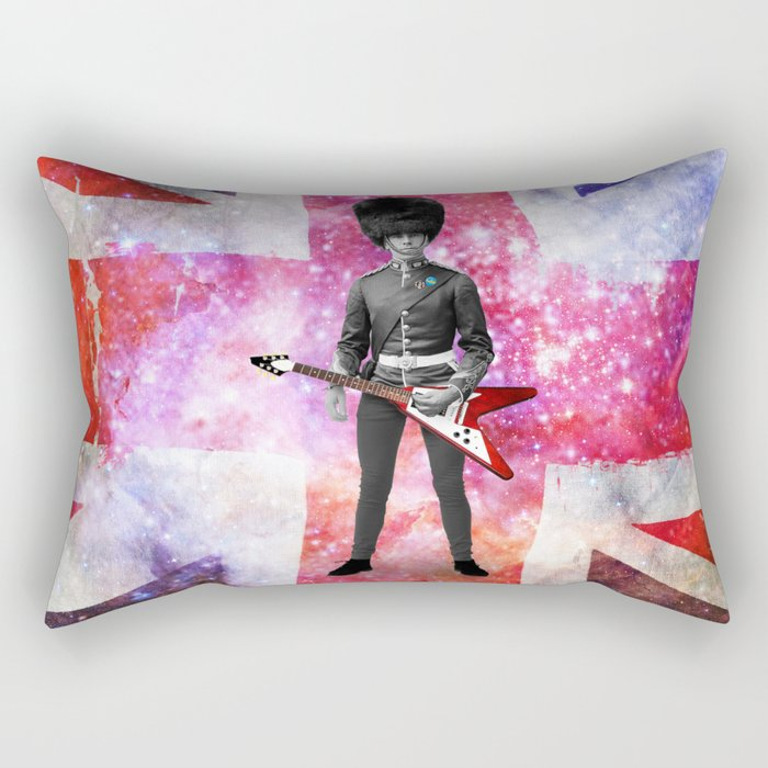 Rick was all up for army surplus for the bands 'look' but in this he just felt he looked like a dick Rectangular Pillow