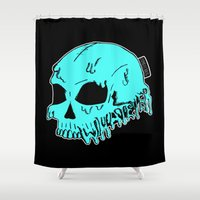 sarcasm Shower Curtains featuring Dripping With Sarcasm by zombieCraig by zombieCraig
