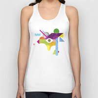 jazzberry Tank Tops featuring Mythical Float Rate. by Nick Nelson
