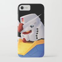 gundam iPhone & iPod Cases featuring Gundam RX-78 by Etienne Chaize