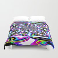 ornate elephant Duvet Covers featuring Ornate by David  Gough