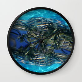 Overwater Underwater shot Wall Clock