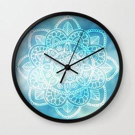Blue Sky Mandala Wall Clock