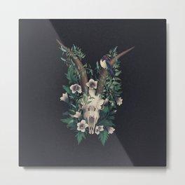Goat Skull Metal Print