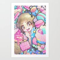 barachan Art Prints featuring makokashi by barachan