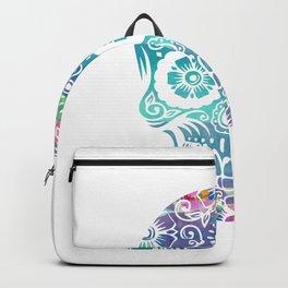 Watercolor floral sugar skull Backpack