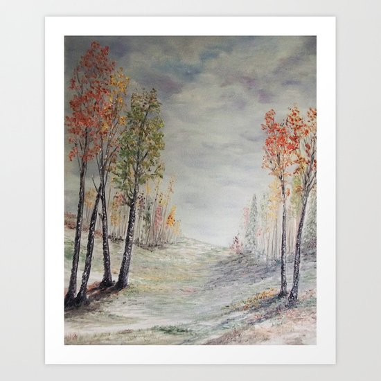 Peace among the Birch Trees Art Print