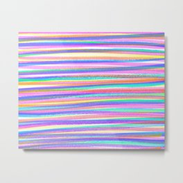 Abstract CMYK Stripes  Metal Print