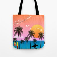 florida Tote Bags featuring Florida  by mark ashkenazi