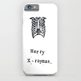 Merry X-RayMas iPhone Case