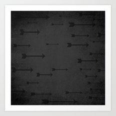 Loxley in Onyx - Arrows Art Print