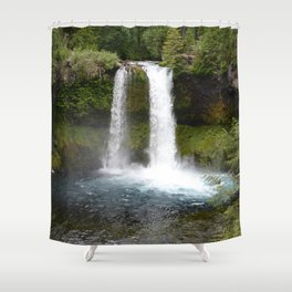 Koosah Falls Oregon Shower Curtain