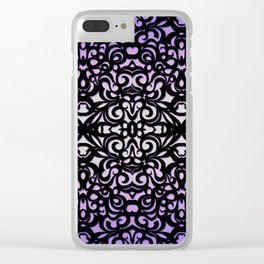 Damask Style G156 Clear iPhone Case