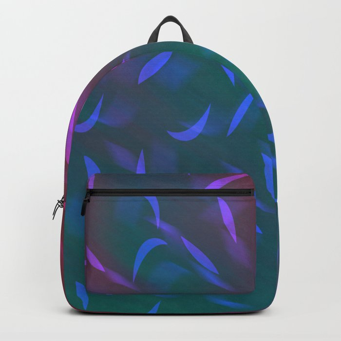 Abstract red green pattern Backpack
