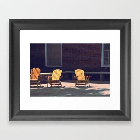 Yellow Chairs Framed Art Print