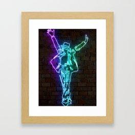 MJ neon art Framed Art Print