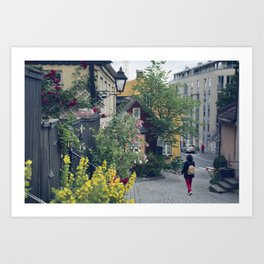 Who said Oslo is grey? Art Print